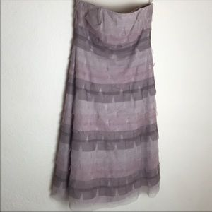 BCBGMaxAzria Lace Tiered Strapless Dress Size 6